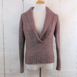 Ann Taylor Loft Alpaca Wool Blend Deep V Sweater